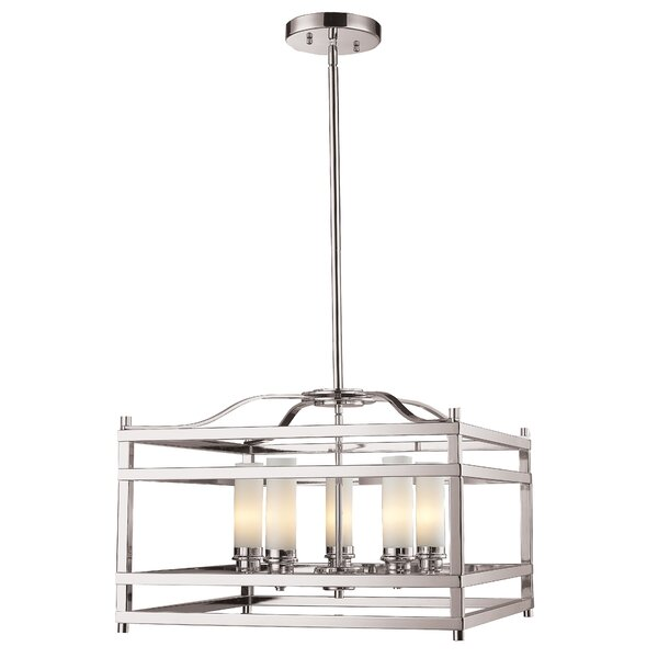 Humiston 5 - Light Lantern Rectangle Chandelier by Bloomsbury Market Bloomsbury Market