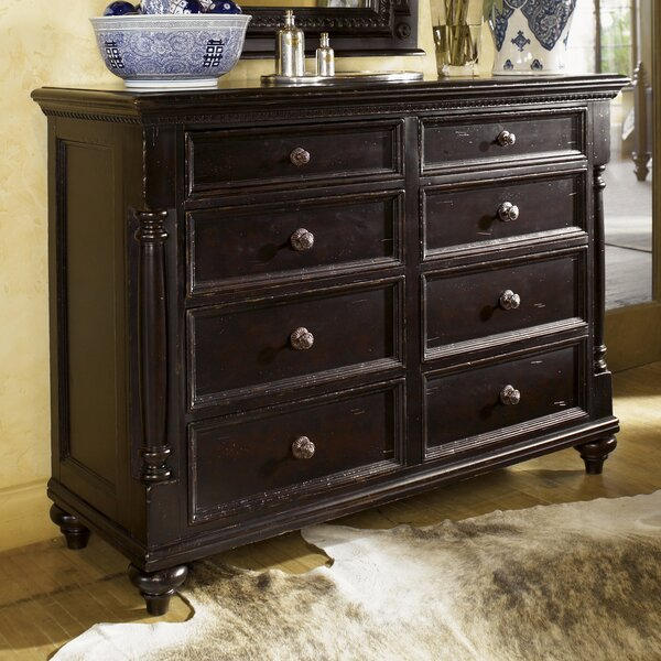 Kingstown Stony Point 8 Drawer Media Double Dresser by Tommy Bahama Home