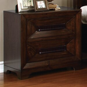 Vineland 2 Drawer Nightstand by Loon Peak