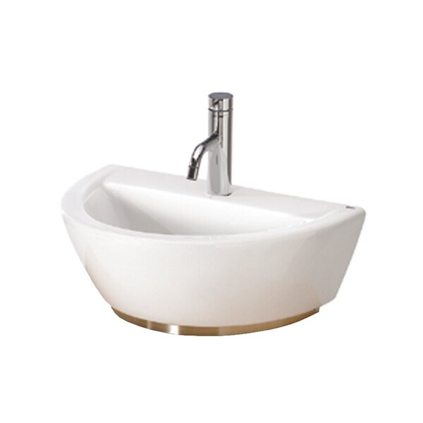 Universal U-Shaped Vessel Bathroom Sink with Overflow by Bissonnet