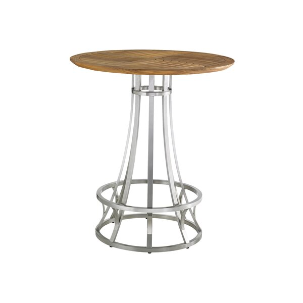 Tres Chic Stainless Steel Bar Table by Tommy Bahama Outdoor