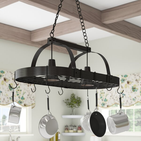 2 Light Kitchen Pot Rack by Darby Home Co