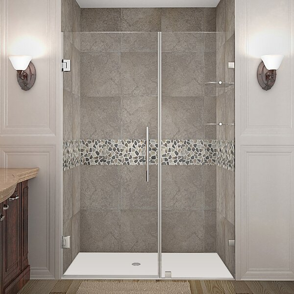 Nautis GS 46 x 72 Hinged Completely Frameless Shower Door by Aston