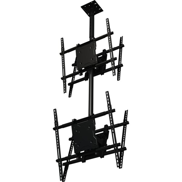 Dual Screen Tilt Universal Ceiling Mount for 37 - 65 Screens by Crimson AV
