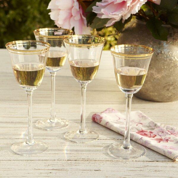 Aveline White Wine Glasses (Set of 4) by Birch Lan