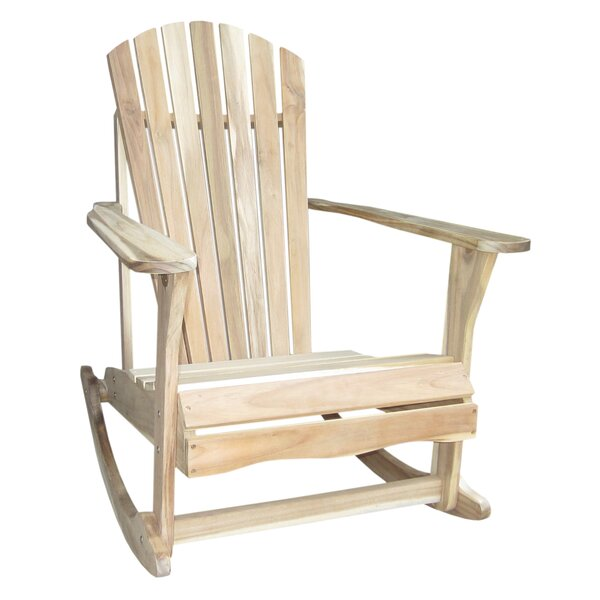 Hinman Solid Wood Rocking Adirondack Chair by Highland Dunes Highland Dunes