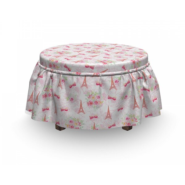 Eiffel French Bouquet Ottoman Slipcover (Set Of 2) By East Urban Home