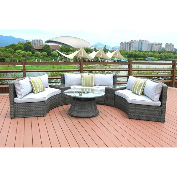 Direct Outdoor 4 Piece Sofa Seating Group with Cushions by Latitude Run