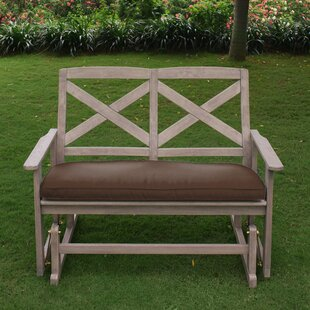 Englewood Glider Bench with Cushion Beachcrest Home