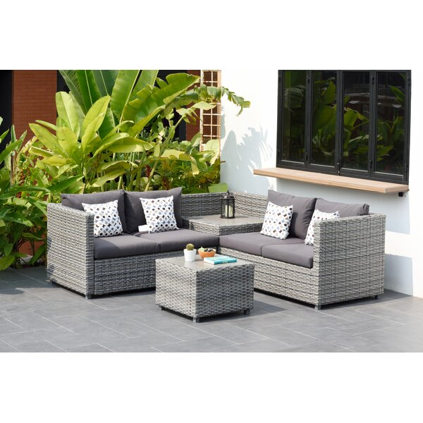 Moyne 3 Sectional Set with Cushions by Beachcrest Home