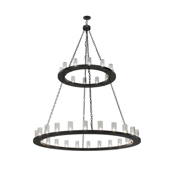 Yearwood 36 - Light Unique Wagon Wheel Chandelier By Loon Peak