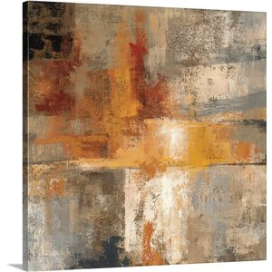 'Silver and Amber Crop' by Silvia Vassileva Painting Print on Canvas by Canvas On Demand