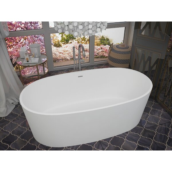 Roccia 61.4 x 31.2 Freestanding Soaking Bathtub by ANZZI