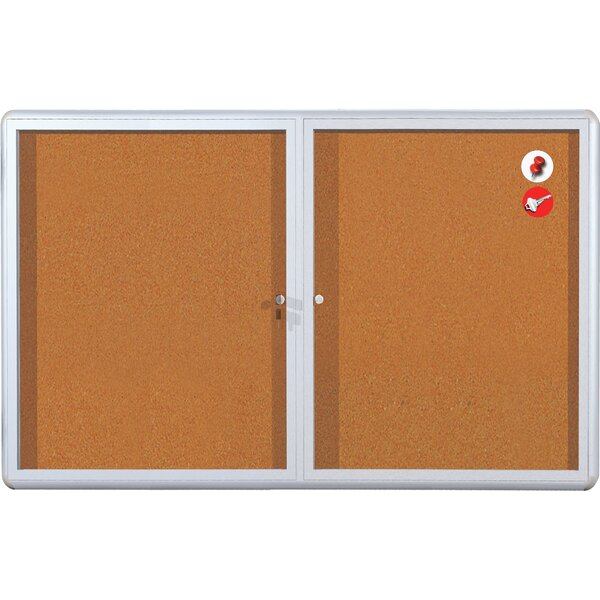 Cork Display Case Wall Mounted Bulletin Board by Mastervision