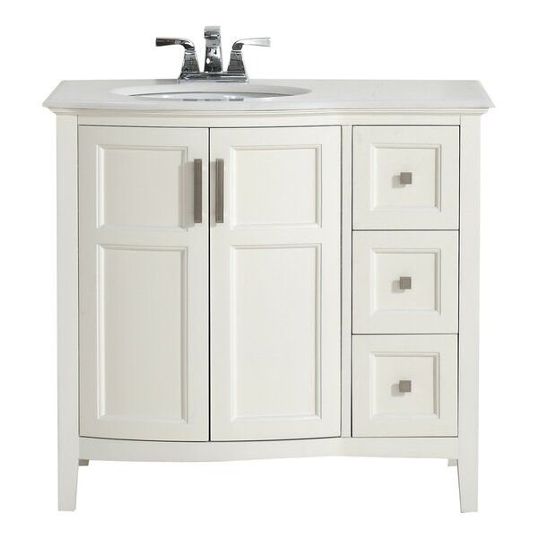Winston 37 Single Rounded Front Bath Vanity Set by Simpli Home