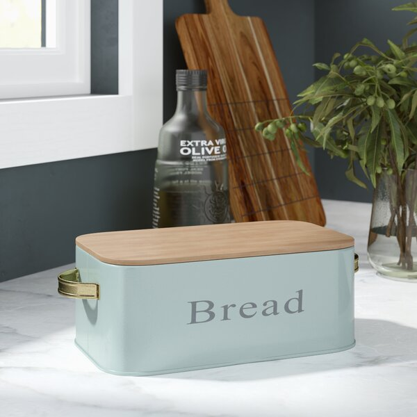 Cannella Bamboo Lid Bread Box by George Oliver