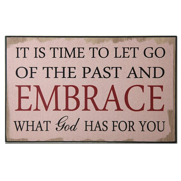 Let Go of the Past Textual Art Plaque by African American Expressions