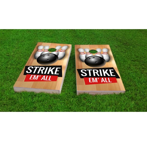 Bowling Pins Cornhole Game Set by Custom Cornhole Boards