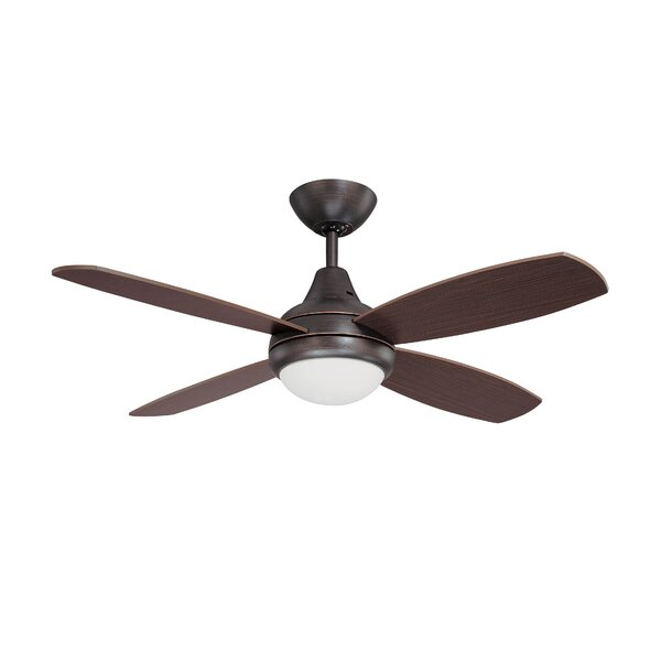 42 Lilla 4-Blade Ceiling Fan with Remote by Williston Forge