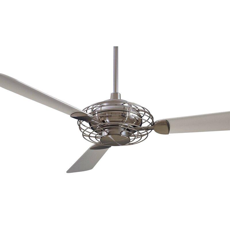 Minka Aire 52 Acero Retro 3 Blade LED Ceiling Fan