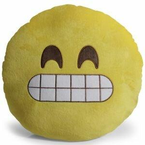 Emoji Grin Pillow Throw Pillow by OxGord