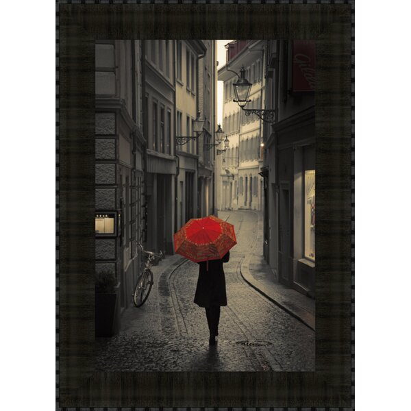 Red Rain by Stefano Corso Framed Photographic Print by Tangletown Fine Art