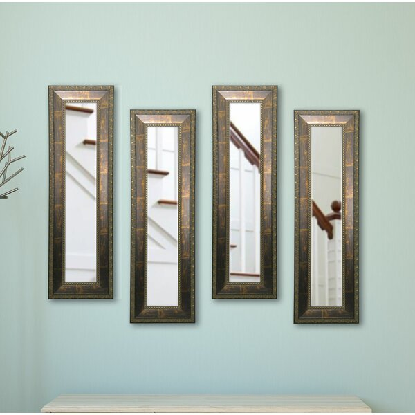 4 Piece Derrill Panels Mirror Set (Set of 4) by Astoria Grand