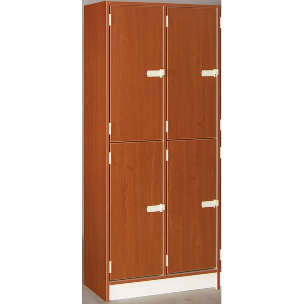 2 Tier 2 Wide School Locker by Stevens ID Systems