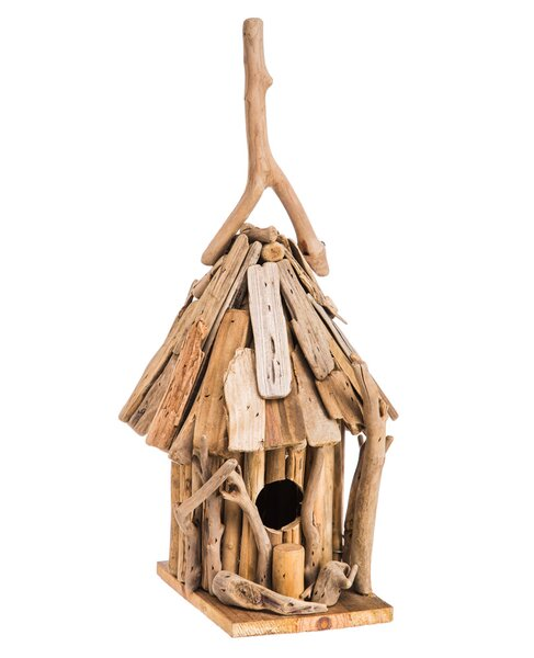 Driftwood 14 in x 9 in x 7 in Birdhouse by Evergreen Flag & Garden