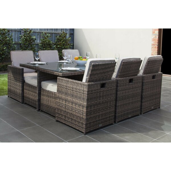 Ivanna 11 Piece Dining Set with Cushions by Latitude Run