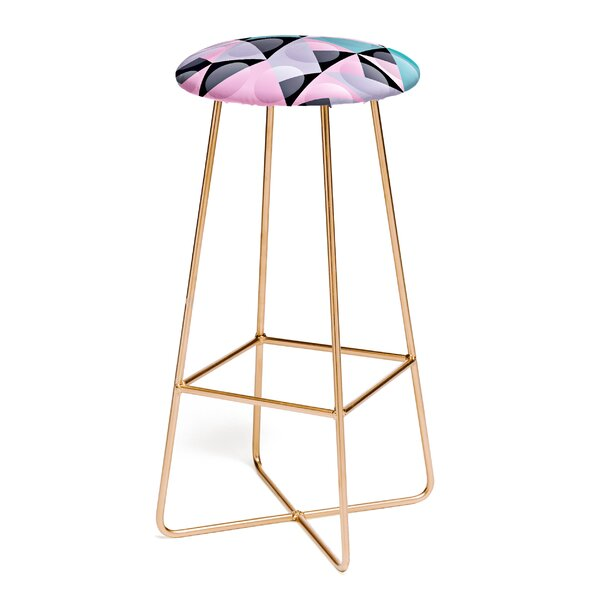 Spires Glass Grid 30 Bar Stool by East Urban Home