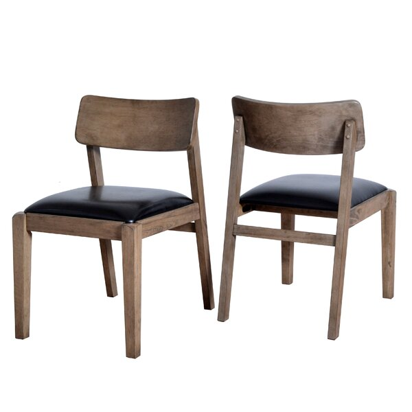 Vogel Wooden Upholstered Dining Chair (Set of 2) by George Oliver