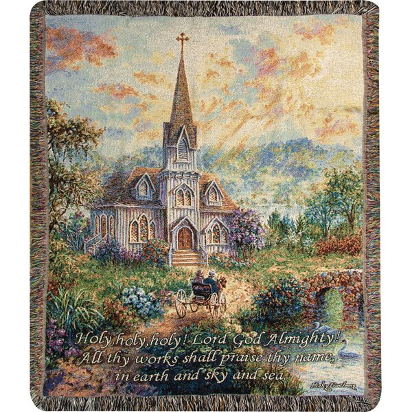 Holy Holy Holy Tapestry Cotton Throw by Manual Woodworkers & Weavers
