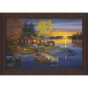 Peaceful Evening by Fred Dingler Framed Graphic Art by Hadley House Co