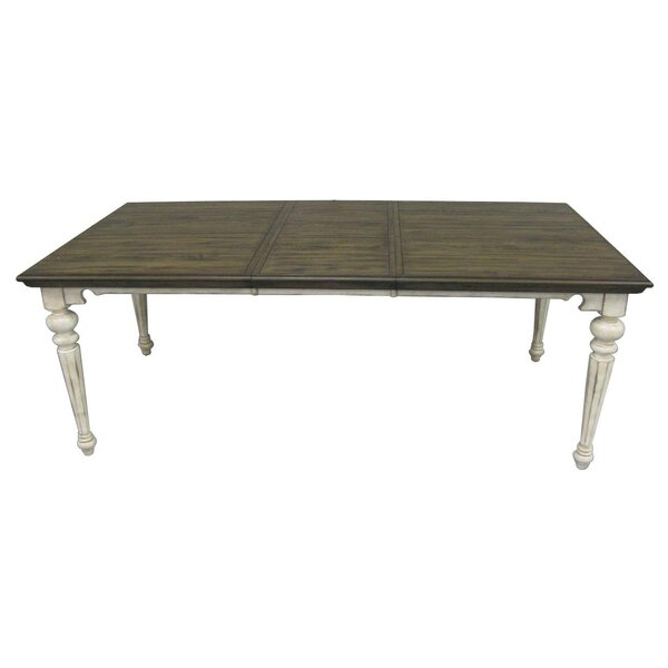 Thibaut Extendable Solid Wood Dining Table by One Allium Way One Allium Way