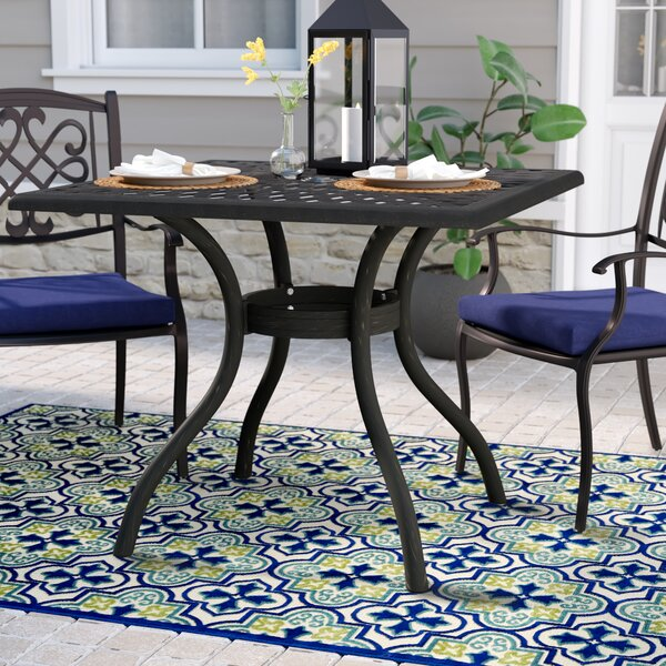 Agawam Metal Dining Table by Fleur De Lis Living