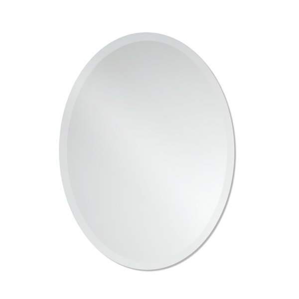 Provenzano Frameless Beveled Oval Wall Mirror by O