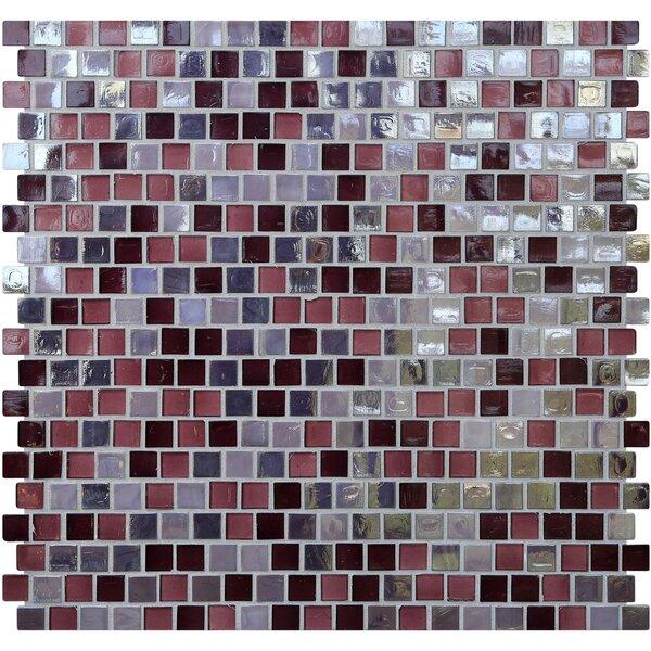 Opal 0.63 x 0.63 Glass Mosaic Tile in Sugar Plum by Kellani