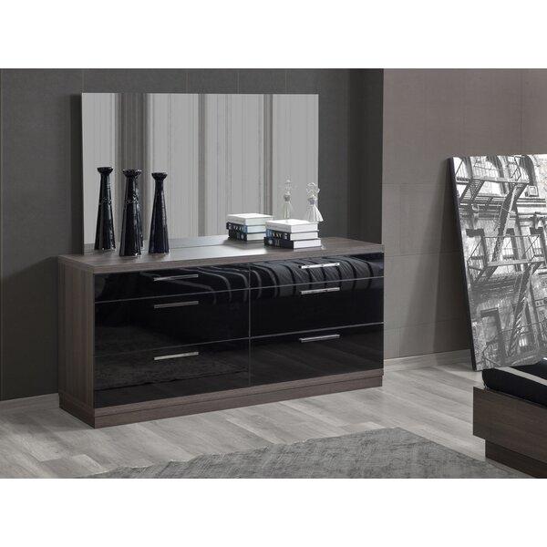 Connan 6 Drawer Double Dresser with Mirror by Orren Ellis