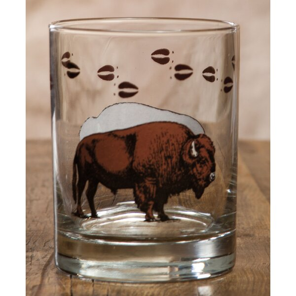 Adele Bison Double 14 oz. Glass Cocktail Glass (Set of 4) by Loon Peak