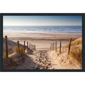 Path to Ocean Framed Photographic Print by Picture Perfect International