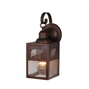 Best Reviews Josefina 1-Light Hardwired Outdoor Wall Lantern By Loon Peak