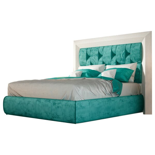 Dela Upholstered Standard Bed by Everly Quinn