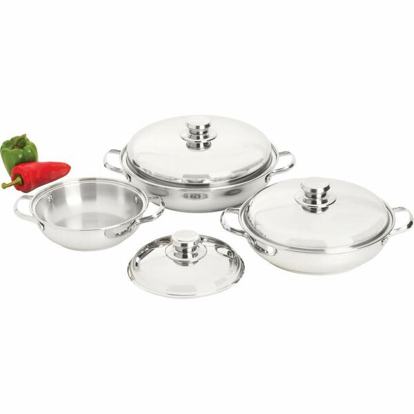 Precise Heat 6 Piece Saute Set with Lid by Chef's Secret