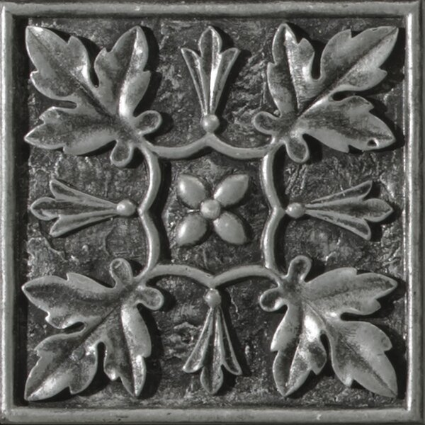 Camelot 4 x 4 Metal Arthur Decorative Accent Tile in Silver by Emser Tile