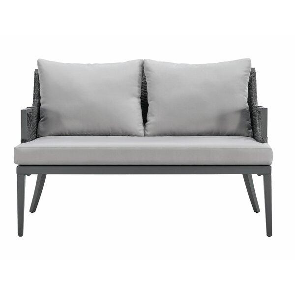 Wakeland Wicker Loveseat with Cushions by Brayden Studio Brayden Studio