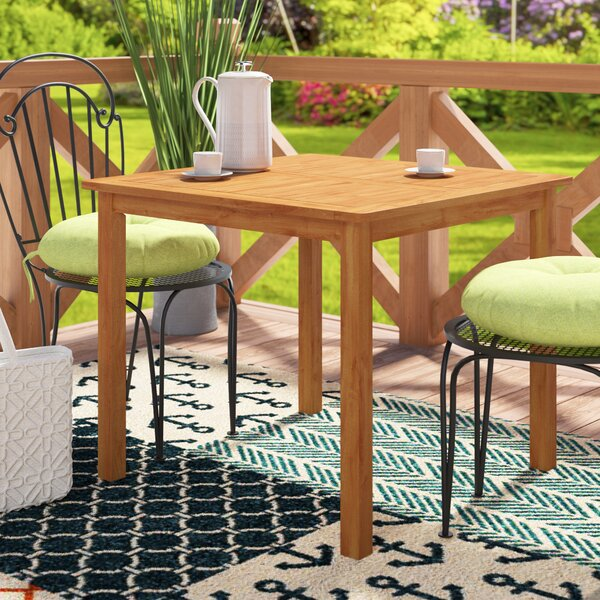 Joaquin Patio Dining Table by Beachcrest Home