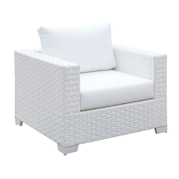 Jerilyn Square Patio Chair with Cushion by Highland Dunes