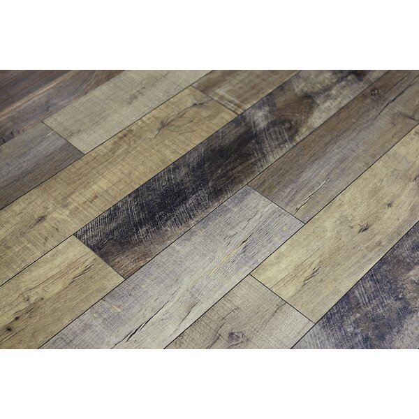 Rustica 6.5 x 48 x 12mm Oak Laminate Flooring in Madrid by Bellami