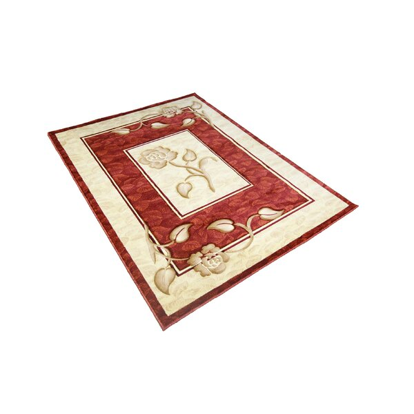 Gale Traditional Red/ Ivory Area Rug by Winston Porter